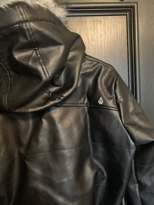 Volcom Leather Jacket black