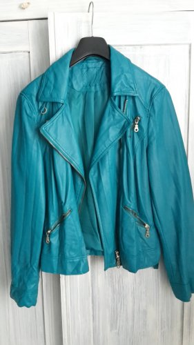 Gerry Weber Faux Leather Jacket turquoise-forest green imitation leather