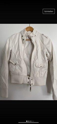 Blue Rags Długa kurtka biały