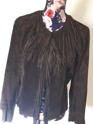 Apart Leather Jacket dark brown