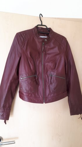 Ashley Brooke Leather Jacket bordeaux