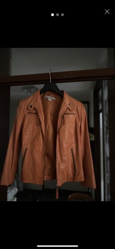 Ashley Brooke Leren jack donker oranje
