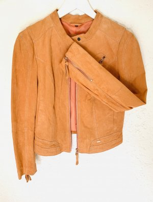 Lederjacke Echtleder Orange Freaky Nation Gr. S