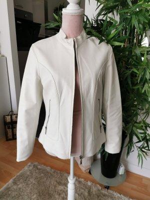 Gipsy Veste en cuir blanc cuir