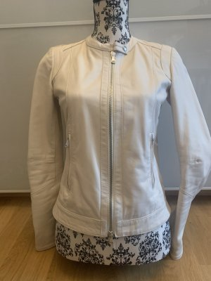 0039 Italy Leather Jacket natural white