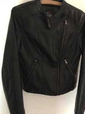 Even & Odd Leather Jacket black