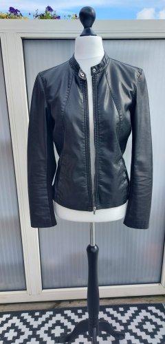 Express Faux Leather Jacket black
