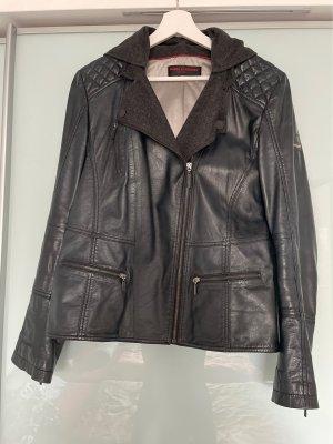 Frieda & Freddies New York Leather Jacket dark blue-black