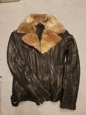 Maze Leather Jacket black