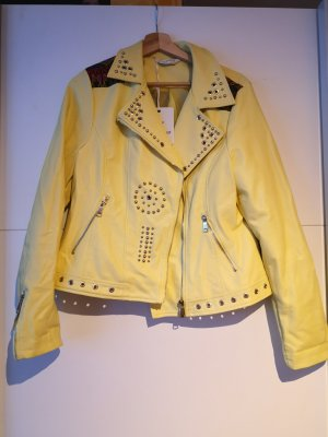Leather Jacket pale yellow