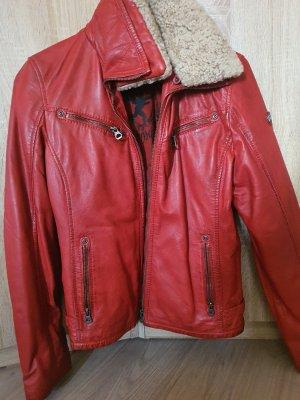 Gipsy Vestido de cuero rojo oscuro