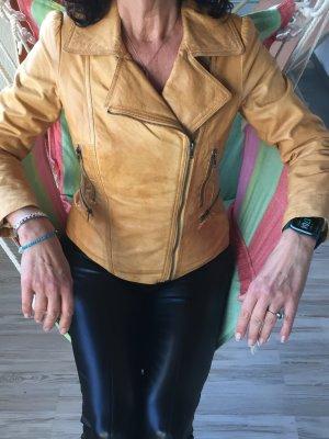 C.P. Twentynine Leather Jacket sand brown leather