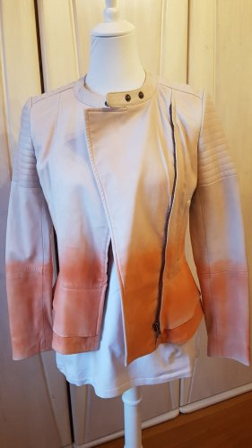 Brandalism Leather Jacket cream-salmon