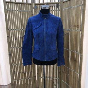 Cruse Leather Jacket dark blue-blue