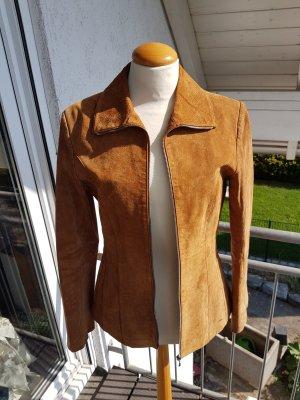 Joy Leather Jacket cognac-coloured