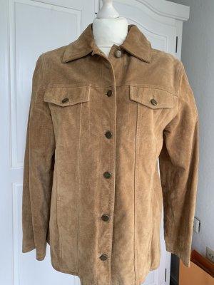 TCM Leather Jacket brown-beige