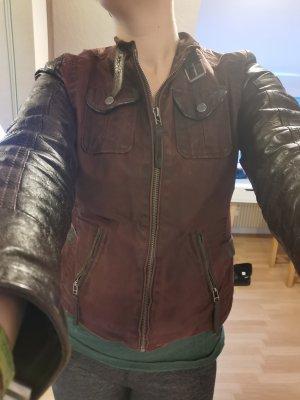 Gipsy Chaqueta de cuero marrón oscuro-burdeos