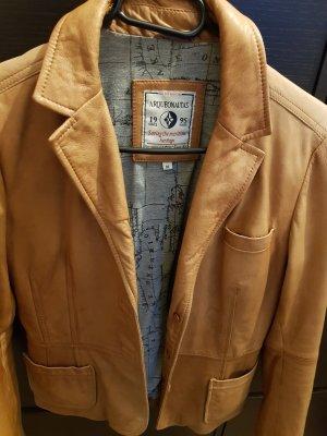 Arqueonautas Leather Jacket bronze-colored