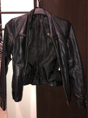 Olymp Veste en cuir noir