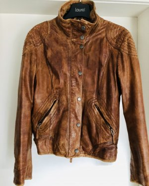 Mauritius Leather Jacket cognac-coloured-brown