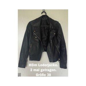 H&M Leather Jacket black