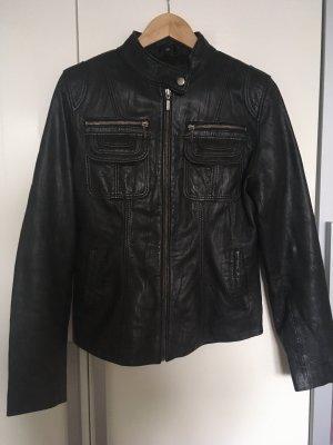 Cabrini Veste en cuir noir