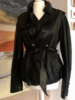 compagnia italiana Leather Jacket black