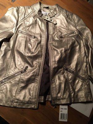 Manolo Faux Leather Jacket rose-gold-coloured-cream