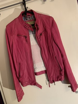 Lederjacke in Pink