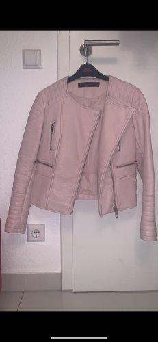 Lederjacke in rosé Zara