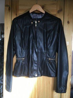 Rino & Pelle Blazer en cuir noir