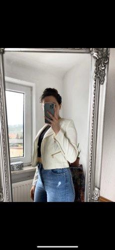 Lederjacke in weiß