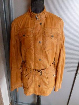 Mauritius Leather Jacket orange