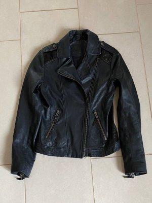 Kookai Veste en cuir noir