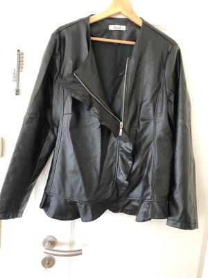 Kitana Veste en cuir synthétique noir