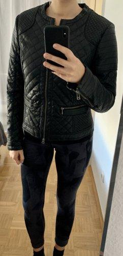 Zara Veste en cuir synthétique noir-argenté
