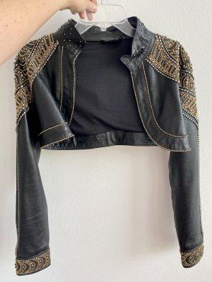 La perla Leather Jacket black