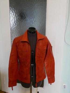 Manguun Leather Jacket dark orange leather