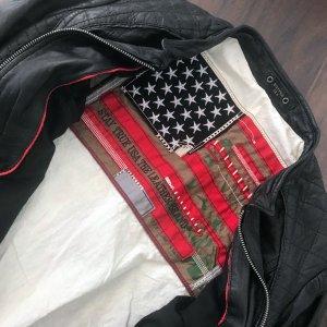 Lederjacke, megacool in schwarz von Stay True U.S.A., NEU