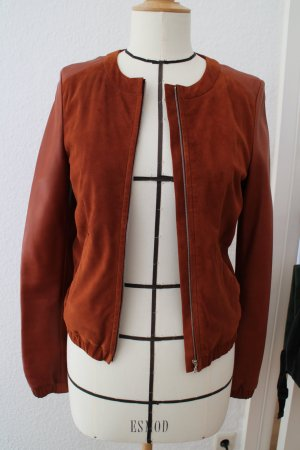 Michalsky Leather Jacket cognac-coloured leather