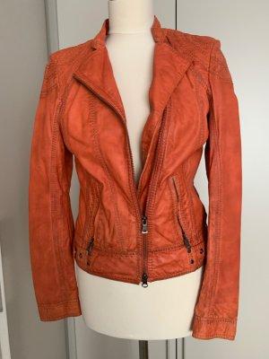 Milestone Leather Jacket dark orange-orange