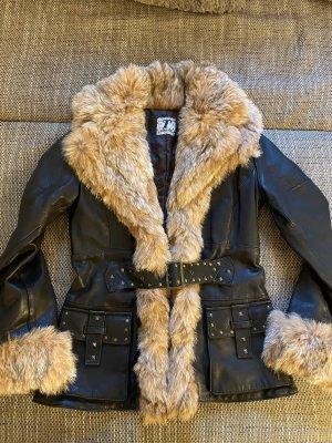 Italy Pelt Jacket black-dark brown
