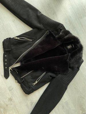 Zara Trafaluc Veste en fourrure noir