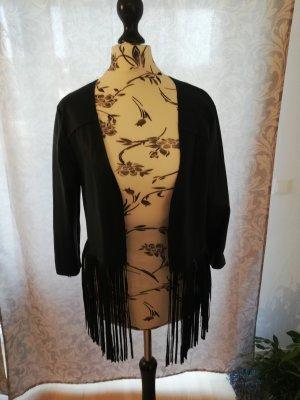 Drole de copine Veste en cuir synthétique noir