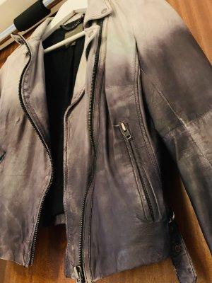 Lederjacke mit grauem Farbverlauf used look