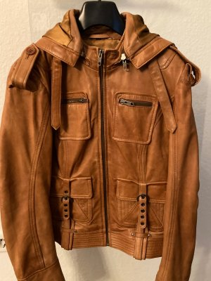 Reverso Leather Jacket multicolored leather