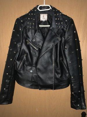 Bikerjack zwart-zilver