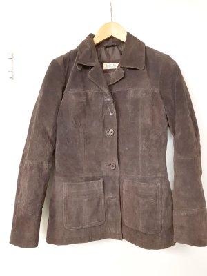 Boysen's Blazer in pelle marrone scuro-marrone Pelle