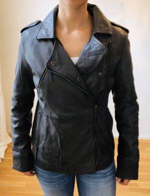 Chevignon Leather Jacket anthracite-dark grey leather