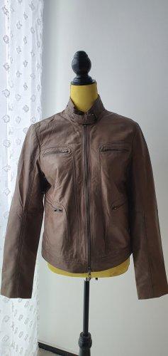 Marc O'Polo Vestido de cuero taupe-marrón grisáceo